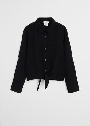 MANGO Lyocell 100% knot shirt