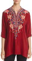 Johnny Was Gemstone Embroidered Blouse