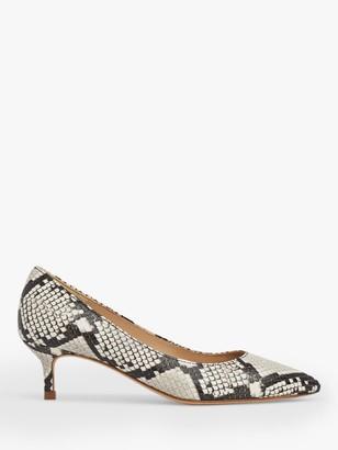 LK Bennett Harlow Leather Pointed Kitten Heel Court Shoes, Multi