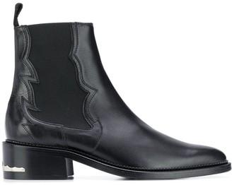 Toga Virilis leather Chelsea boots