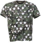 Valentino Cotton Camustar T-shirt With White Stars