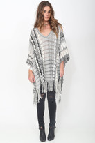 Goddis Nora Fringe Poncho in Shadow