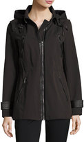 Andrew Marc Talia Tech-Cotton Anorak Jacket, Black