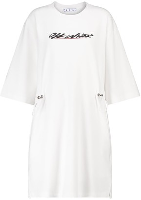 Off-White Cotton-jersey minidress