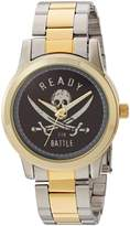 Disney Men's 'Pirates' Quartz Metal and Stainless Steel Casual Watch, Color: (Model: WDS000375)