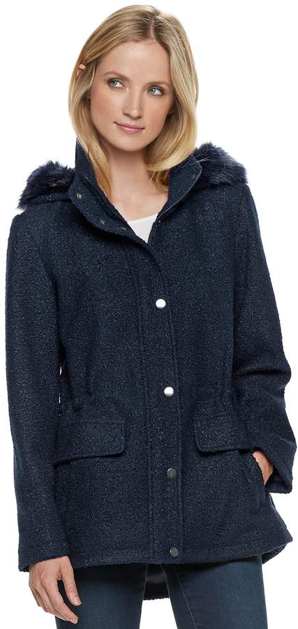 Details Women's Faux-Fur Hooded Anorak Jacket