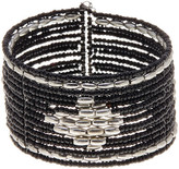 Stephan & Co Pattern Oval & Seed Bead Cuff
