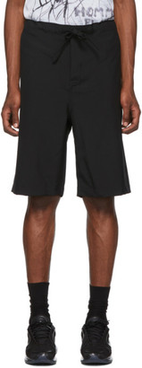 Comme des Garcons Black Tropical Wool Shorts