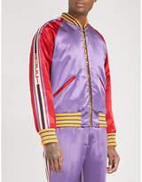 Gucci Tiger-embellished Quilted Satin Bomber Jacket