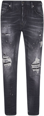 DSQUARED2 Stone-washed Distressed Jeans