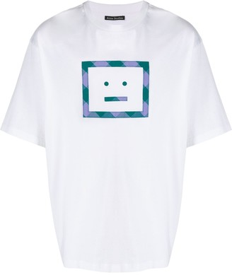 Acne Studios Face-appliqué T-shirt
