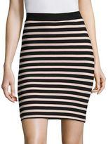 ATM Anthony Thomas Melillo Stripe Fitted Skirt