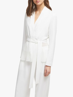 French Connection Angeline Sheer Belted Jacket, Summer White