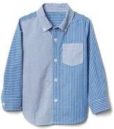 Mix-stripe poplin shirt