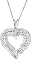 1/2 CT. T.W. Diamond Heart Pendant in 10K White Gold