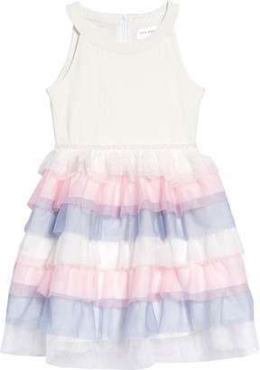 Tiered Tulle Fit & Flare Dress