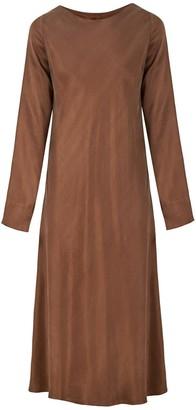 Flowy Minimal Dress In Brown