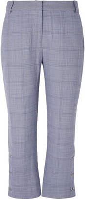 Dion Lee Checked Wool Kick-flare Pants
