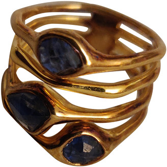 Monica Vinader Blue Yellow gold Rings