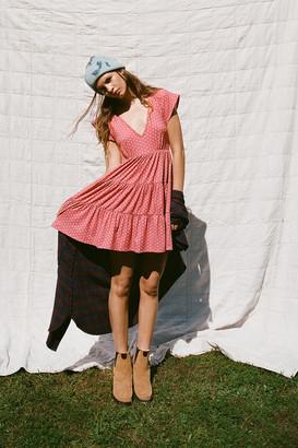 Urban Outfitters Julia Tiered Ruffle Mini Dress