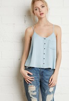 Forever 21 Button-Front Chambray Cami