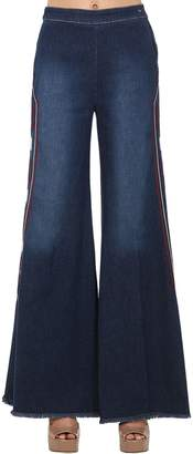Milly Shaft Jeans EMBROIDERED STRETCH DENIM JEANS
