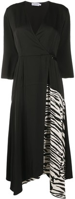 Calvin Klein Zebra Patch Asymmetric Dress