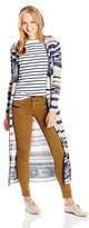 Billabong Junior's Fade To Dusk Striped Cardigan Sweater