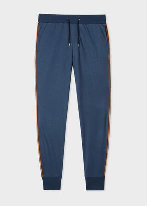 Paul Smith Men's Slate Blue 'Artist Stripe' Wool Sweatpants