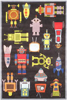 Momeni Area Rug, Lil Mo Whimsy Lmj-1 Steel Blue 2' x 3'
