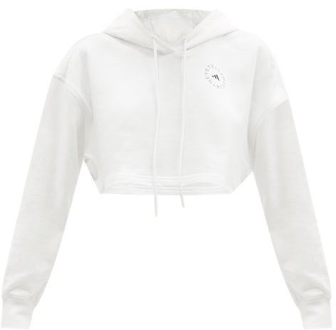 adidas by Stella McCartney Future Playground Cotton-jersey Sweatshirt - White
