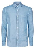 120% Lino Faded Long-sleeved Linen Shirt