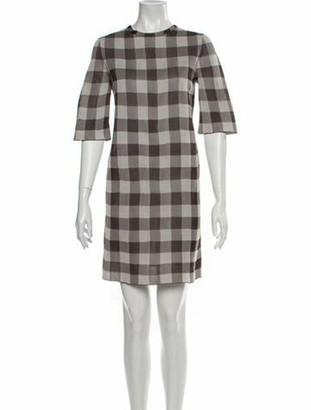 Celine Vintage Mini Dress Brown