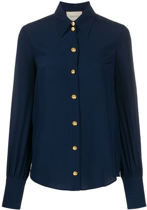 Gucci Anchor Button Shirt