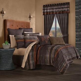 J Queen New York Mesa 4-Piece King Comforter Set in Chocolate