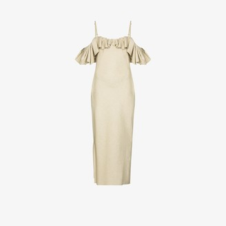 Jacquemus Pampelonne off-the-shoulder ruffled midi dress