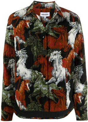 Kenzo Horse print oversized jacket