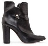 MANGO Leather pointy ankle boots