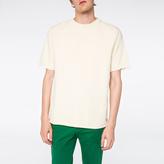 Paul Smith Men's Ecru Raw-Edge Short-Sleeve Sweatshirt