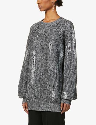 Y's Distressed wool-blend jumper