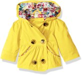 Pink Platinum Platinum Baby Girls Emma Spring Jacket Double Breasted Trench Coat