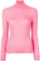 Gucci fine knit turtleneck - women - Silk/Cashmere/Wool - L