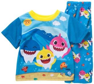 AME Shark Print T-Shirt & Pants Pajama Set