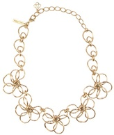 Oscar de la Renta Metal Flower Necklace