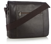 J By Jasper Conran Designer Dark Brown Leather Messenger Bag