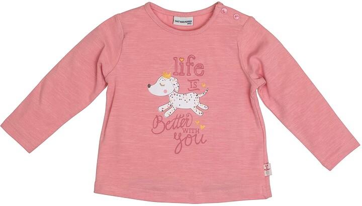 Salt&Pepper Salt and Pepper Baby Girls' Lovely Hund Life is Better Longsleeve T-Shirt