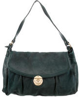 Marc Jacobs Leather-Accented Suede Hobo