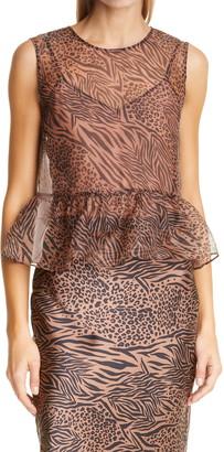 CAMI NYC The Amira Jungle Print Silk Sleeveless Top