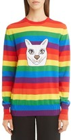 Loewe Women's Cat Rainbow Stripe Wool Blend Sweater