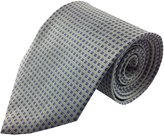 Kai Light Silk Necktie with Blue Accent Pattern